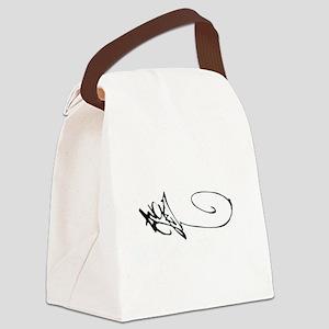 Angel Graffiti Canvas Lunch Bag