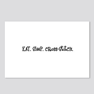 Eat Sleep Cross-Stitch Postcards (Package of 8)