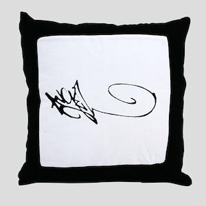 Angel Graffiti Throw Pillow