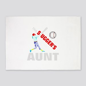 Baseball aunt of slugger 5'x7'Area Rug