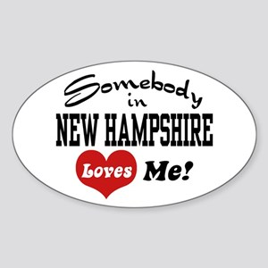 Somebody in New Hampshire Loves Me Oval Sticker