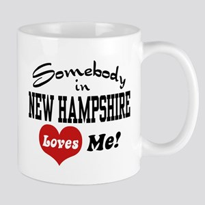 Somebody in New Hampshire Loves Me Mug