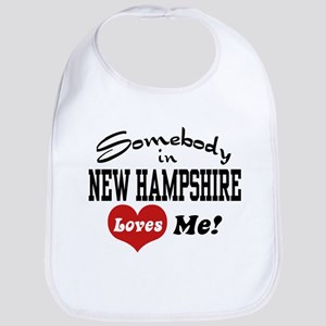 Somebody in New Hampshire Loves Me Bib