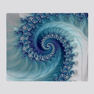 Sound of Seashell Throw Blanket