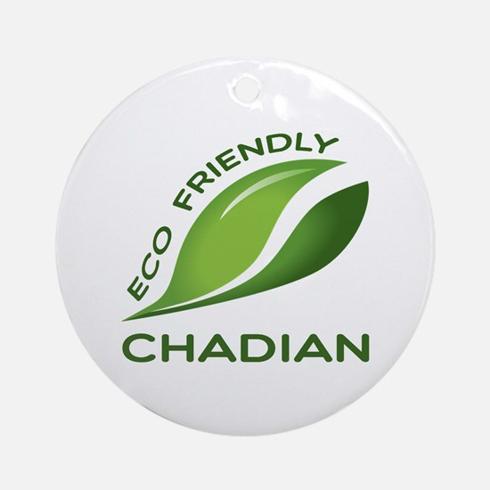 Eco Friendly Chadian County Designs Round Ornament