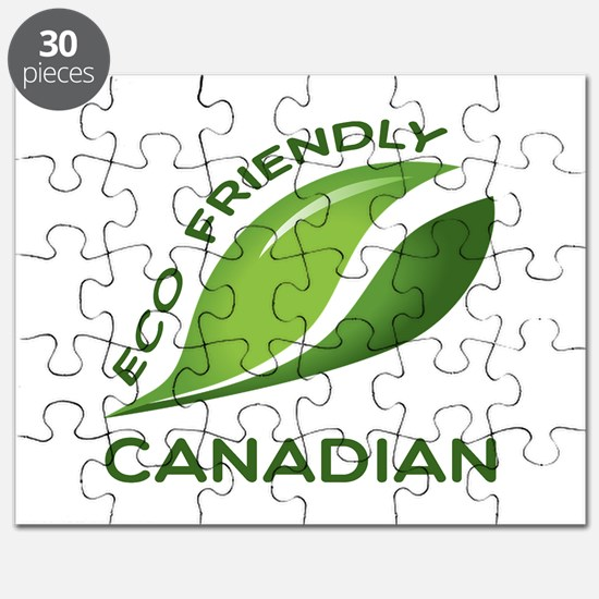 Eco Friendly Canadian County Designs Puzzle