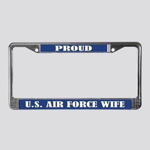 Proud U.s. Air Force Wife License Plate Frame