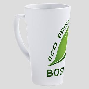 Eco Friendly Bosnian County Design 17 oz Latte Mug