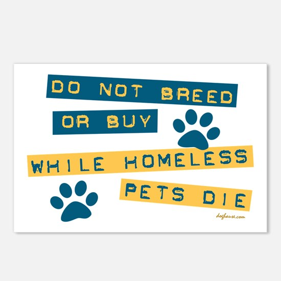 Do Not Breed or Buy Labels Postcards (Package of 8