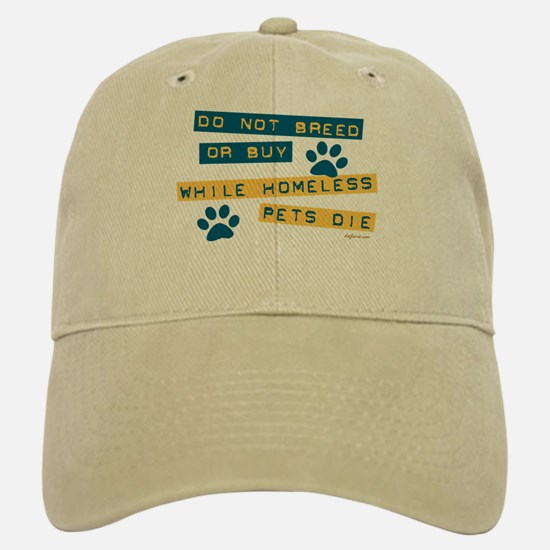 Do Not Breed or Buy Labels Baseball Baseball Cap