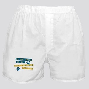 Do Not Breed or Buy Labels Boxer Shorts