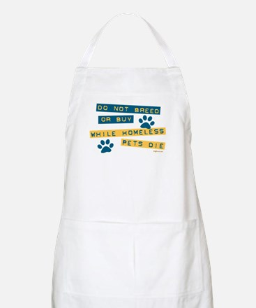 Do Not Breed or Buy Labels BBQ Apron