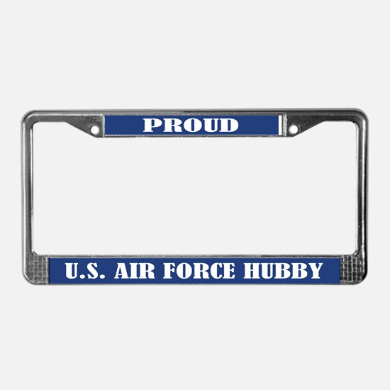 Proud U.s. Air Force Husband License Plate Frame