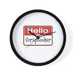 Hello I'm A Scrapbooker Wall Clock