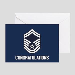 USAF SMSgt - Congratulations (Blue) Greeting Card