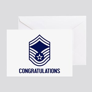 USAF SMSgt - Congratulations (White) Greeting Card