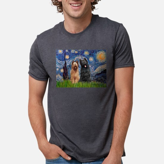 Starry - 2 Briards T-Shirt