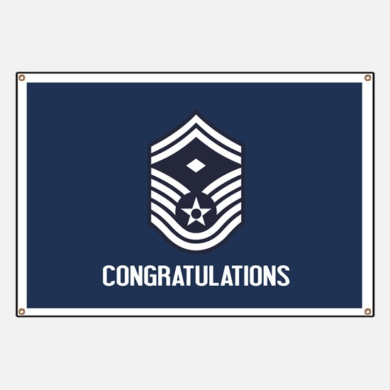 USAF SMSgt - Congratulations (Blue) Banner