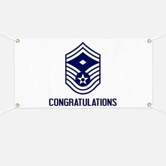 USAF SMSgt - Congratulations (White) Banner