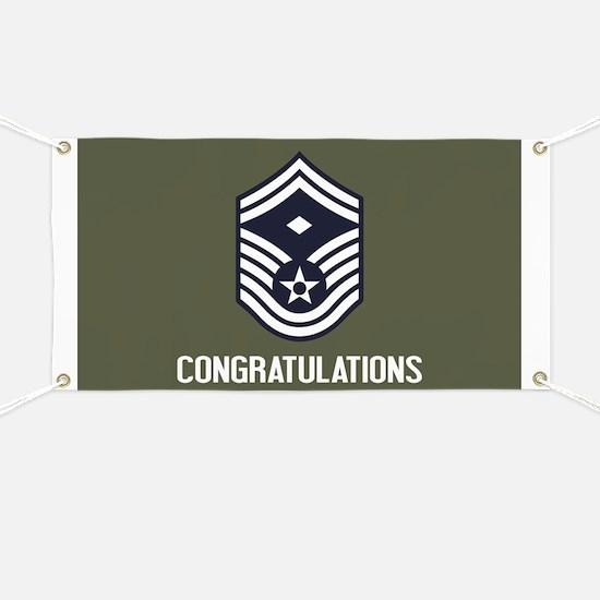 USAF SMSgt - Congratulations (Green) Banner
