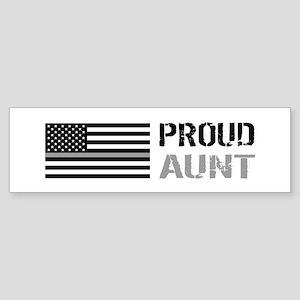 U.S. Flag Grey Line: Proud Aunt ( Sticker (Bumper)