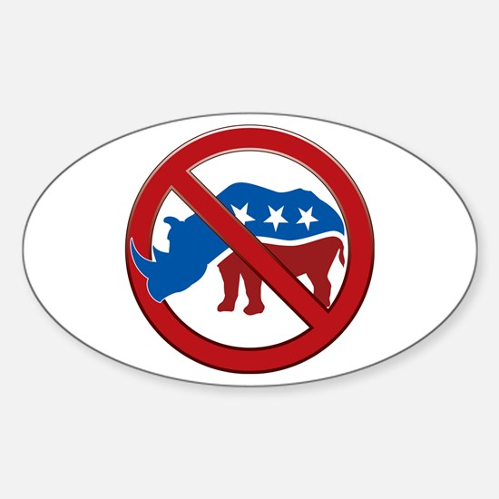 No RINOs! Oval Decal