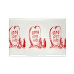 Valentine's Day Cave Man Rectangle Magnet