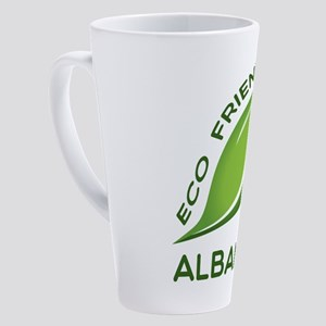 Eco Friendly Albanian County Desig 17 oz Latte Mug