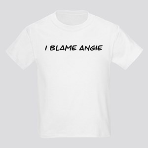 I Blame Angie Kids Light T-Shirt