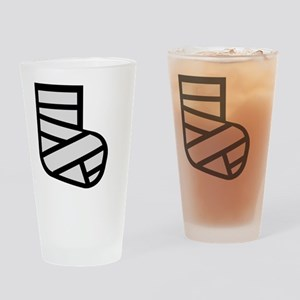 broken leg Drinking Glass