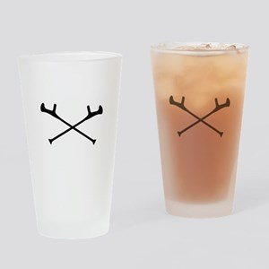 crutches Drinking Glass