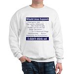 Sweatshirt - Would Jesus Support...