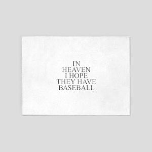 Baseball in Heaven 5'x7'Area Rug