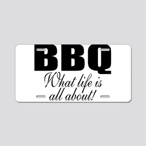 Barbeque Aluminum License Plate