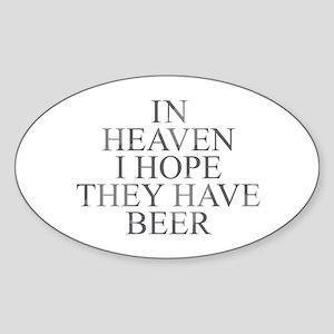 Beer in Heaven Sticker