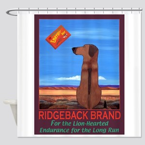 Ridgeback Brand Shower Curtain
