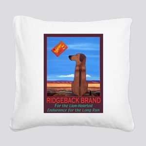 Ridgeback Brand Square Canvas Pillow