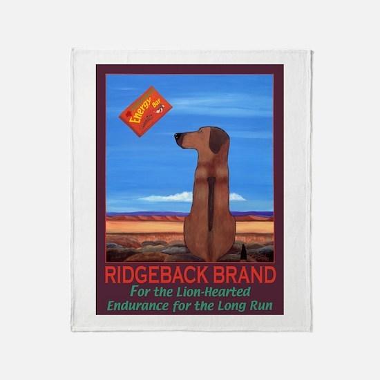 Ridgeback Brand Throw Blanket