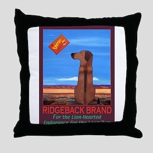 Ridgeback Brand Throw Pillow