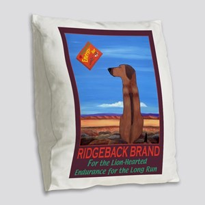 Ridgeback Brand Burlap Throw Pillow