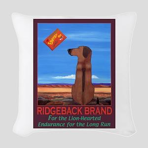 Ridgeback Brand Woven Throw Pillow