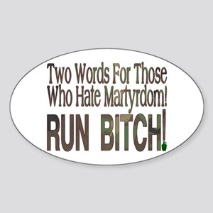 Martyrdom Oval Sticker