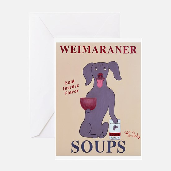 Weimaraner Soups Greeting Card