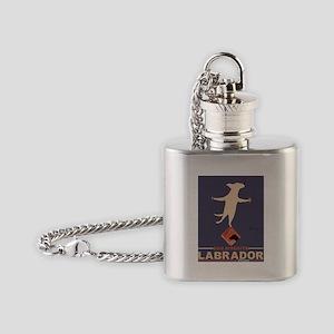 Labrador Brand - Yellow Lab Flask Necklace