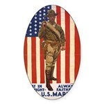 Be a U.S. Marine! Oval Sticker