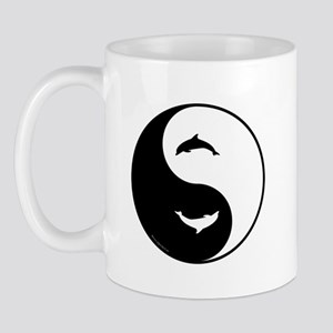 Yin Yang Dolphins Mug
