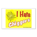 I Hate Chiggers Rectangle Sticker