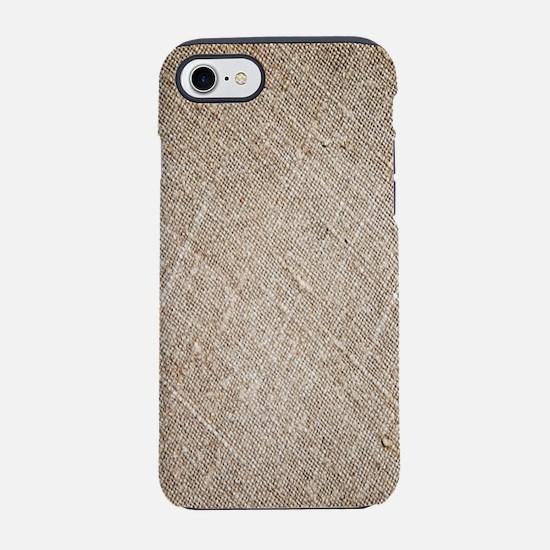 country chic vintage burlap iPhone 8/7 Tough Case