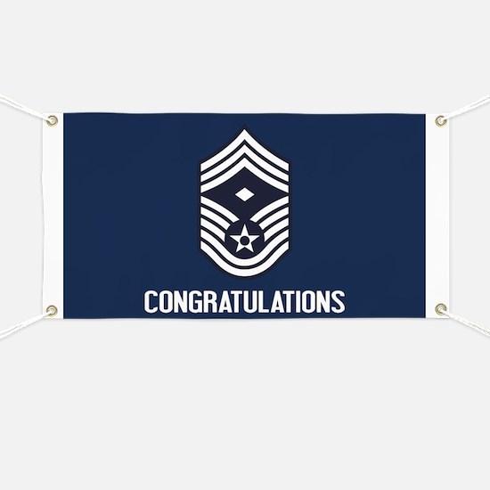 USAF CMSgt - Congratulations (Blue) Banner