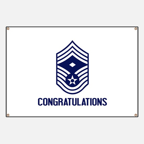 USAF CMSgt - Congratulations (White) Banner